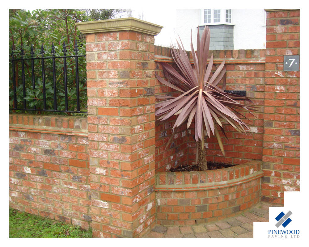 Flower bed in brickwork