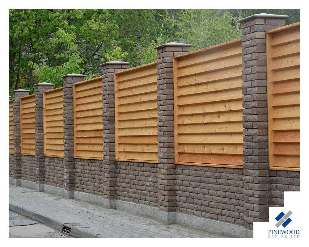 Brickwall with fencing